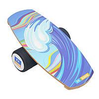 Балансборд Ex-board Wave Color черный валик 16 см литой (EX28)