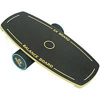 Балансборд Ex-board Black Circle черный валик 13 см в резине (EX81)