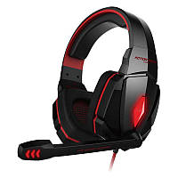 Игровые наушники с микрофоном и LED подсветкой KOTION EACH Gaming with LED G4000 black-red