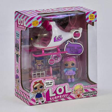 """Игровой набор для девочек 2 куклы с вертолётом службы спасения К 5623 """"Вертолет"""", фото 2"""