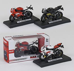 Игрушечный мотоцикл металлопластик HX 812, модель детализированный спортбайк с подвижным рулем Toys