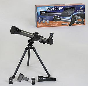 Телескоп детский настольный со штативом, 3 степени увеличения Toys