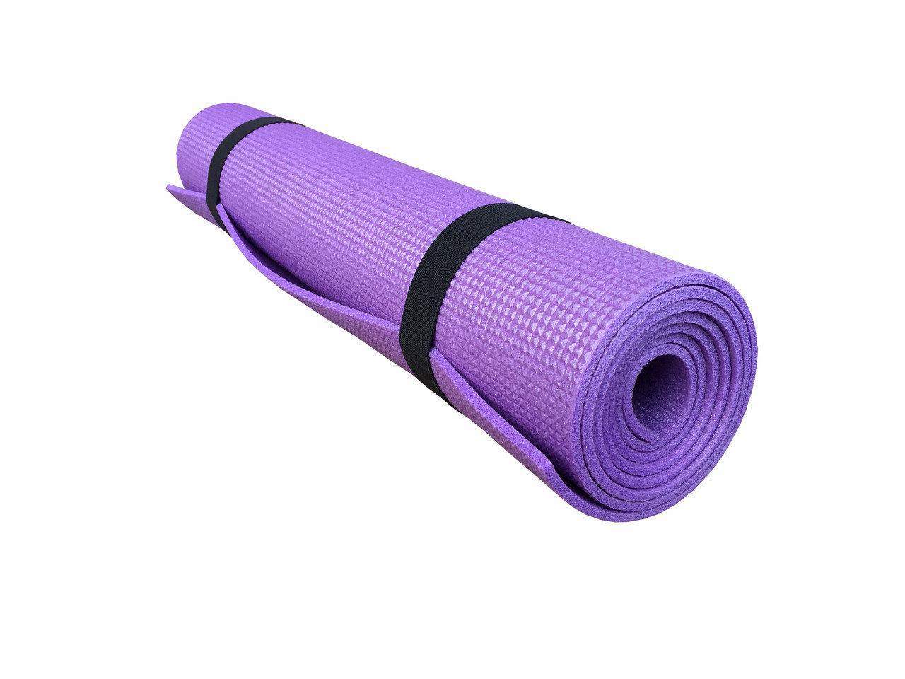 """Універсальний тонкий килимок для Дорослих, Килимок """"Комфорт"""" для йоги 1800х600х8мм. Туристичний килимок"""