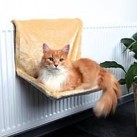 Гамак подвесной для кота (плюш) 45х30х26 см бежевый