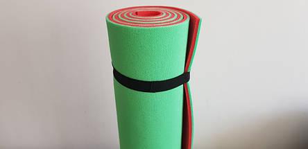 Каремат двошаровий 1800х600х9 мм туристичний, Фітнес килимок для йоги, Килимок для фітнесу і туризму, фото 3