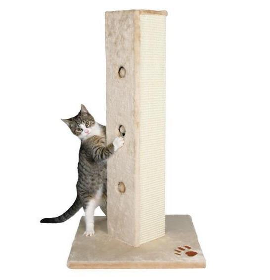 Когтеточка (Дряпки) - колона для кота Soria 80 см, бежева