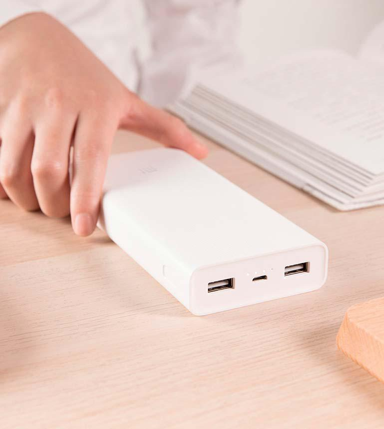 Портативное универсальное зарядное устройство Power Bank 20000 mAh, Легкий павер банк