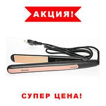Утюжок ГОФРЕ плойка для волосся Gemei GM-2955W, Прилад для укладання волосся, Щипці, Гофре для прикореневого, фото 2
