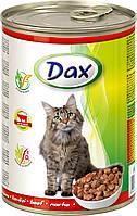 Консерва для котов Дакс с говядиной 415 гр