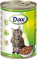 Консерва для котов ДАКС (кролик) 415 гр