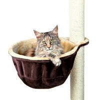 Мягкое место на дом для кота 38см беж/коричневый