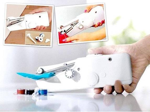 Швейна машинка mini Sewing, Швейна машинка міні ручна FHSM handy stitch автономна компактна, фото 2