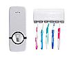 Дозатор зубної пасти, Тримач для зубних щіток стерилізатор, Toothpaste Dispenser JX1000, фото 6