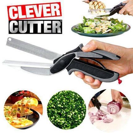 Універсальні кухонні ножиці Clever cutter, Ножі і ножиці кухонні 3 в 1, Розумні ножиці, Диво ніж 3 в 1, фото 2