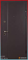 Входные двери с терморазрывом модель «Astera / Астера» (цвет Ral 8019 + Антроцит) комплектация COTTAGE