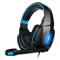 Игровые наушники с микрофоном и LED подсветкой KOTION EACH Gaming with LED G4000 black-blue