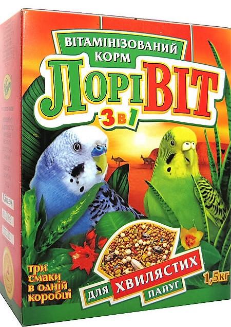 Корм для волнистых попугаев ''Лоривит'' 1,5кг.