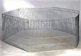 Переносной мини-вольер оцинкованный (6секций) 70/50