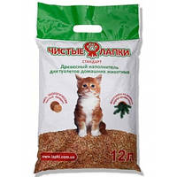 Чистые лапки' стандарт-лаванда 3 кг (12 л) - Наполнитель для кошачьего туалета