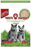Чистые лапки 6 кг (24 л) - Наполнитель для кошачьего туалета