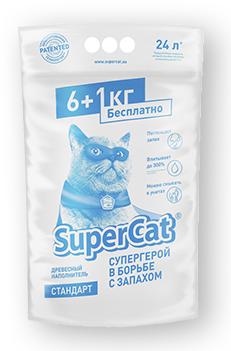 Super cat стандарт 6 1 кг - наповнювач для котячого туалету