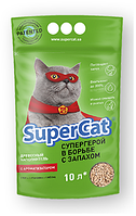 Super cat з ароматизатором 3 кг - наповнювач для котячого туалету