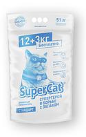 Super cat стандарт 12+3 кг - Древесный наполнитель для котов и кошек
