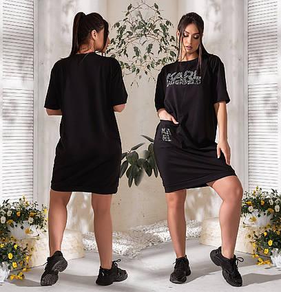 """Женское летнее платье-туника в больших размерах 1034 """"Карл"""" в расцветках"""