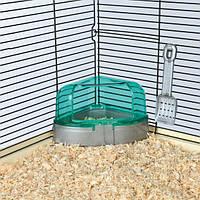 Угловой туалет для хомяка с крышкой 14 х 8 х 11/11 см