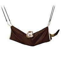 Тоннель для грызунов подвесной, 20х45 см, нейлон/иск.мех., коричневый/бежевый