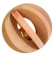 Игрушка для грызунов Шар с колокольчиком ø 6 см, дерево
