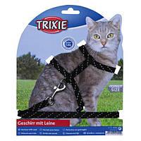 Шлейка поводок для котов 18-35см/10мм 130 см (2 цвета)
