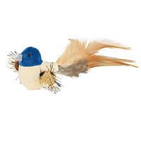 Игрушка Птичка 8 см, плюш/перья.