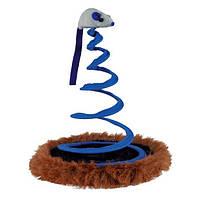 Игрушка для кошки Мышь на пружине , ф 20 х 25 см