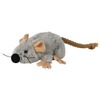 Мышь 7 см, плюш, серый