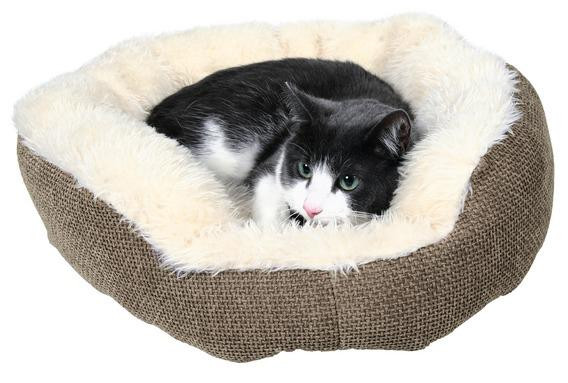 Лежак для кошки Yuma Ø 45 см, коричн./белый