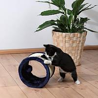 Когтеточка Колесо Ø 23 см, сизаль / плюш, темно-синій