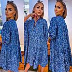Вільне плаття з v-подібним вирізом (Батал), фото 2