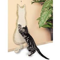 Когтеточка Кошка 35х69 см бежевый