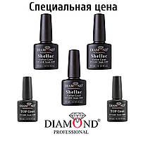Набор 3 гель лак +База +Финиш Diamond Суперцена!