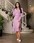 Платье софт миди с цветочным принтом и разрезом сбоку, фото 2