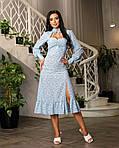 Платье софт миди с цветочным принтом и разрезом сбоку, фото 3
