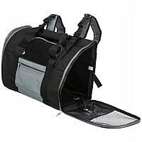 Сумка-рюкзак Connor для кошек и собак до 8 кг, 42х29х21см, нейлон, черный/синий