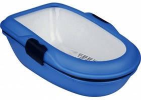 Туалет Berto с бортиком и сеткой, 39х22х59см., синий.