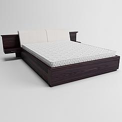 Ліжко дерев'яне двоспальне Делайт з підйомним механізмом (масив ясена)