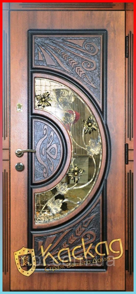 Двері вхідні Адамант New зі склом і ковкою серії Прайм ТМ Каскад