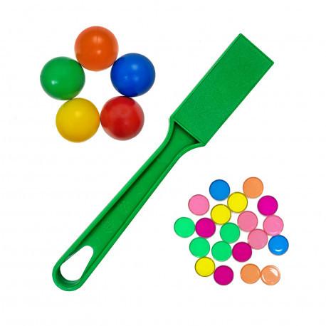 Магнітний жезл з магнітними кульками і фішками (1 жезл, 5 кульок, 20 фішок)