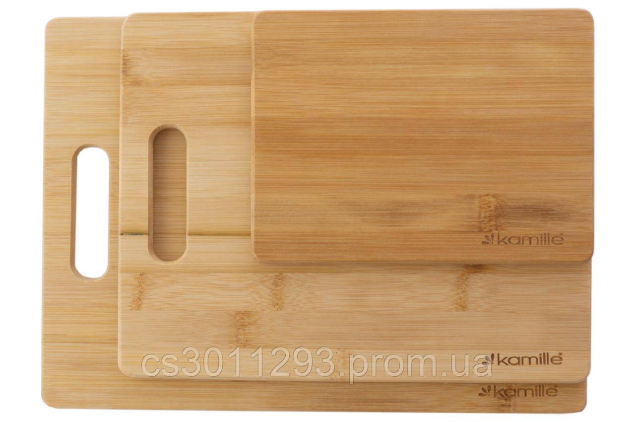 Набір обробних дощок Kamille - 203 x 279 x 330 мм бамбук (3 шт.)