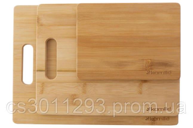 Набір обробних дощок Kamille - 203 x 279 x 330 мм бамбук (3 шт.), фото 2