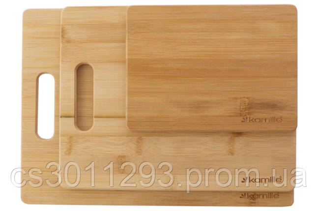 Набор досок разделочных Kamille - 203 x 279 x 330 мм бамбук (3 шт.), фото 2